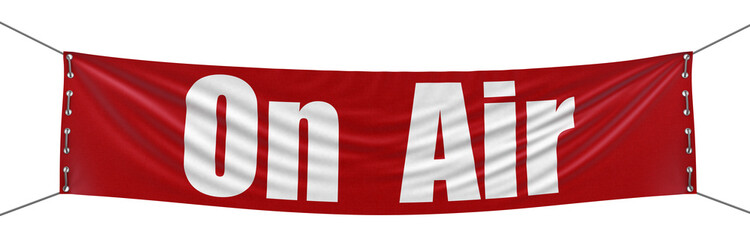 «On air» Banner (clipping path included)