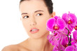 Portrait of beautiful woman with health skin. Spa concept.