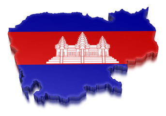 Cambodia (clipping path included)