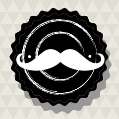 Hipster mustache sticker for retro design