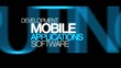 Mobile application development software word tag cloud animation