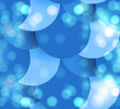 abstract blue colorful circle bubbles background vector design