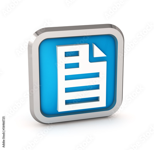 Blue page icon on a white background