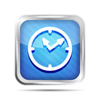 blue striped shiny watch icon on a white background