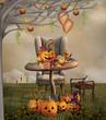 Halloween pumpkins banquet