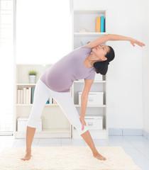Pregnancy yoga.
