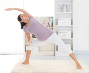 Maternal yoga at home