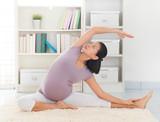 Woman meditation yoga at home