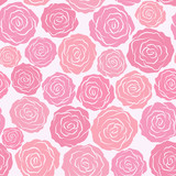 Seamless abstract grey  background  with roses