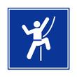 Cartel simbolo rocodromo