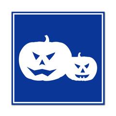 Cartel simbolo calabazas de Halloween