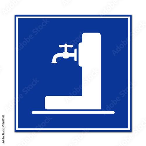 Señal simbolo fuente de agua potable