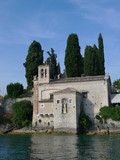 palace on shores of garda lake