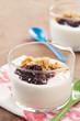 Yoghurt with berry jam