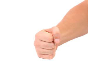 Close up of man's fist.