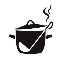 Vector illustration of cooking pan icon
