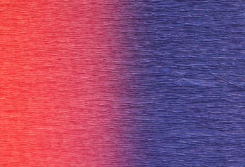 Red and blue background.