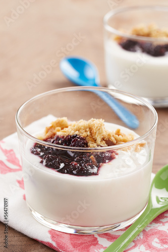 Yoghurt with berry jam