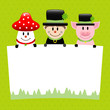 Fly Agaric, Chimney Sweep & Pig Green