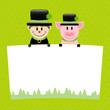 Chimney Sweep & Pig Label Green
