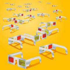 Viele 3D-Brillen