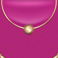 The original pink textured leather handbag