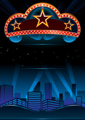 Design for great entertainment show in city