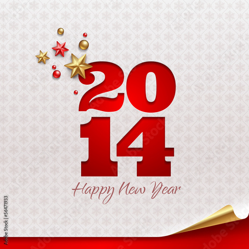 New 2014 year - holidays vector design