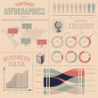 Vintage infographics design elements
