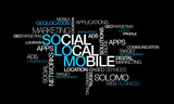 SoLoMo Social Local Mobile word tag cloud illustration