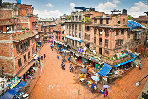 The present appearance of city street Bhaktapur, Nepal.