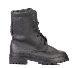Black man's boot. Side view.