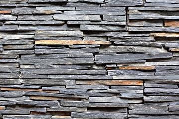 Slate Stone Wall