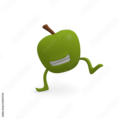 Dancing apple
