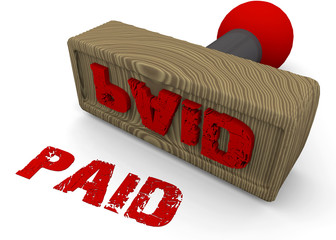 STAMP PAID - 3D