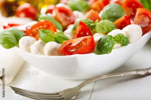 caprese salad with mozzarella