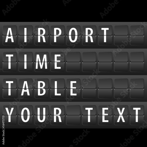 Airport Time Table