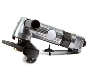 air angle grinder on white background