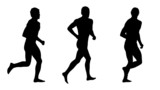 man running silhouettes set 3