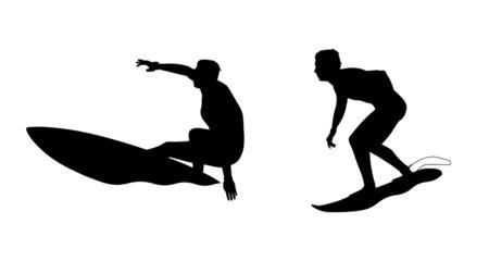 surfers silhouettes set 2