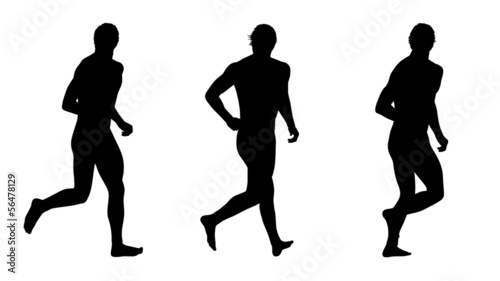 man running silhouettes set 4