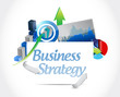 business strategy concept sign illustration design
