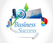 business success concept sign illustration