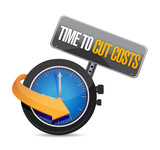 time to cut cost concept illustration design