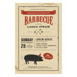Vintage birthday party barbecue invitation