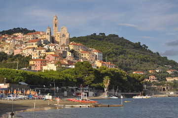 Villaggio medioevale italiano, Cervo, Liguria, Italia