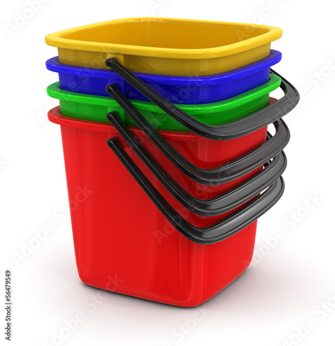 Buckets (clipping path included)