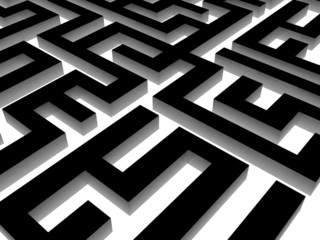 Labyrinth on black, 3D images