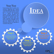 Gear infographic template. Well organized eps 10 document