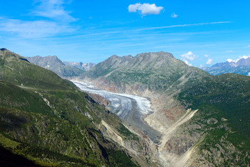 The impressing Aletsch glacier